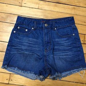 Nasty Gal High Waisted Denim Shorts